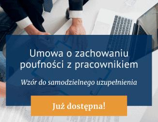 Umowa ozachowaniu poufności